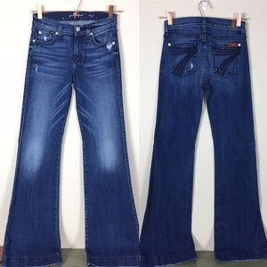 7 For All Mankind Dojo jeans medium wash wide leg